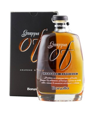 Grappa OF Amarone Barrique Bonollo con Astuccio